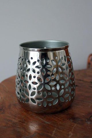 Silver Luxe Candle Holder