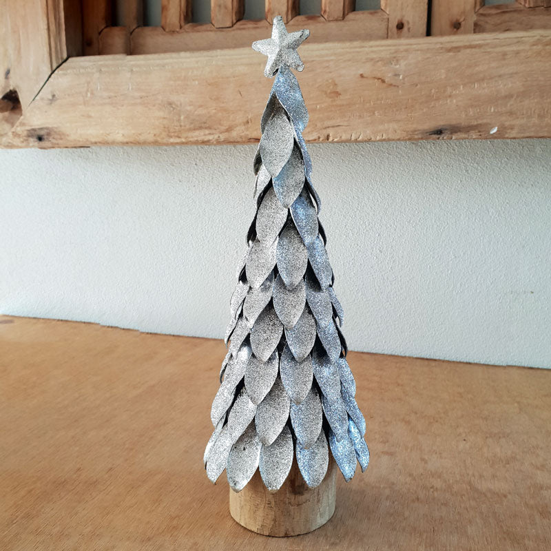Silver Christmas Tree - The Chic Nest
