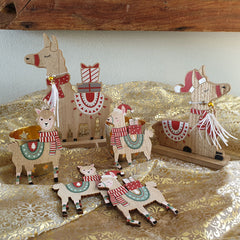 Sitting Christmas Llama - The Chic Nest