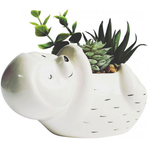 Sloth Planter With Succulents