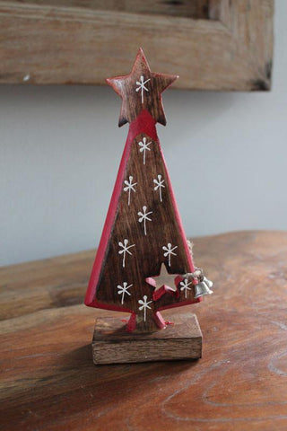 Snowflake Wooden Tree - The Chic Nest