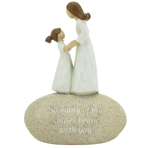 So Many of My Smiles Begin With You Rock Figurine