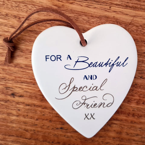 Special Friend Hanging Heart Ornament