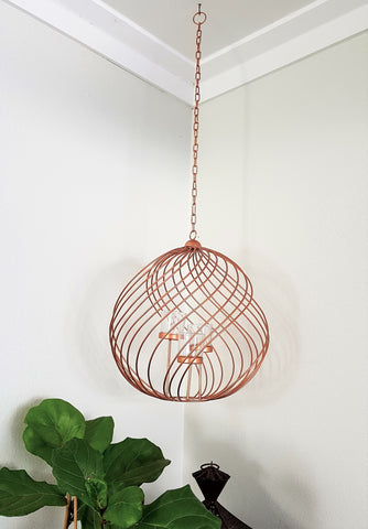 Spiral Tealight Candle Holder - Copper