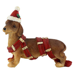 Standing Dachshund Christmas Ornament