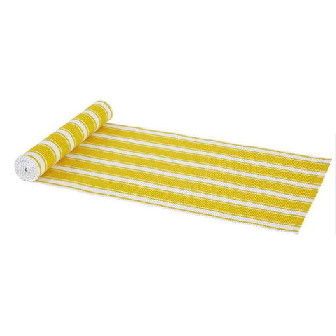 Yellow Striped Table Runner