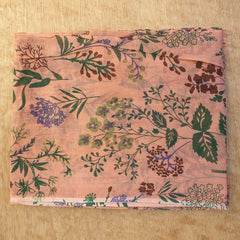 Terracotta Floral Scarf - Cotton