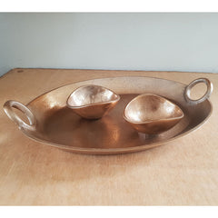Textured Gold Tray 38cm