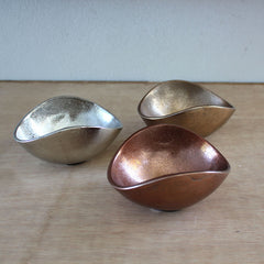Gift Boxed Set of 3 Bowls - Gold, Silver & Copper