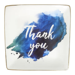 Thank You Blue Trinket Dish