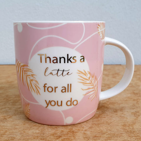 Thanks A Latte Gift Boxed Mug