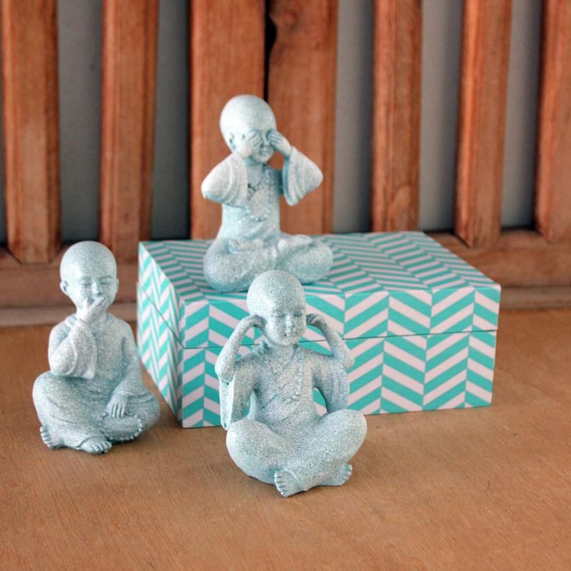 Three Wise Buddhas - Marble Mint