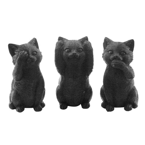 Three Wise Cats - Black - The Chic Nest