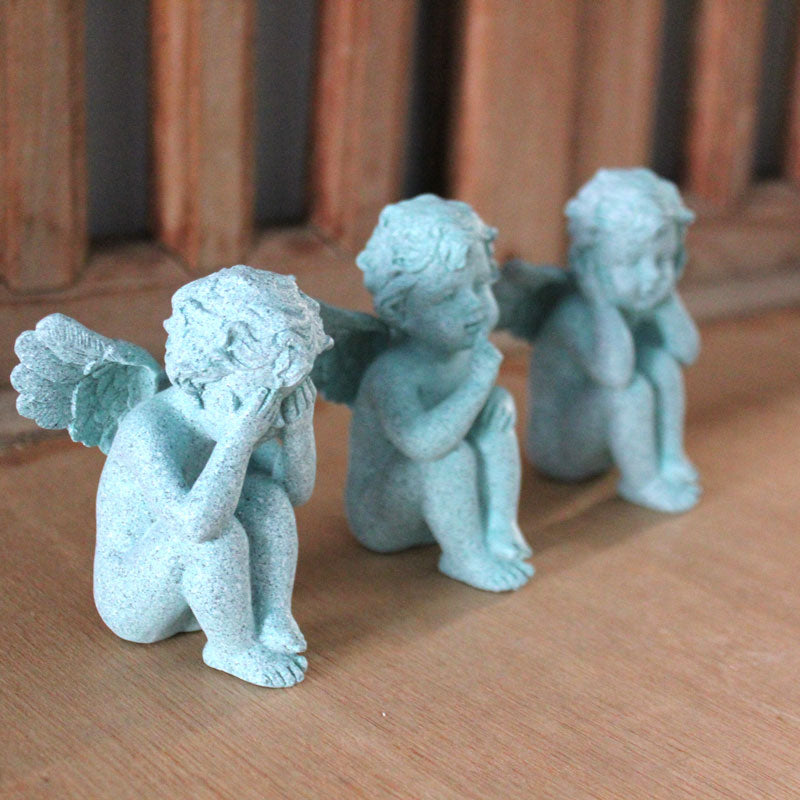 Three Wise Cupids - Mint - The Chic Nest