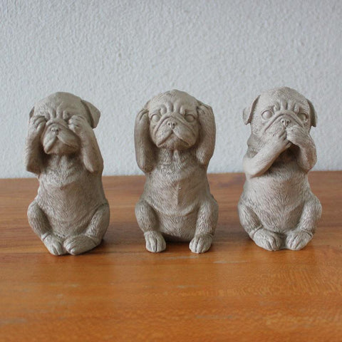 Three Wise Dogs - Taupe - The Chic Nest