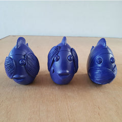Three Wise Fish - Blue