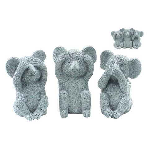 Three Wise Koalas - Marble Black - The Chic Nest