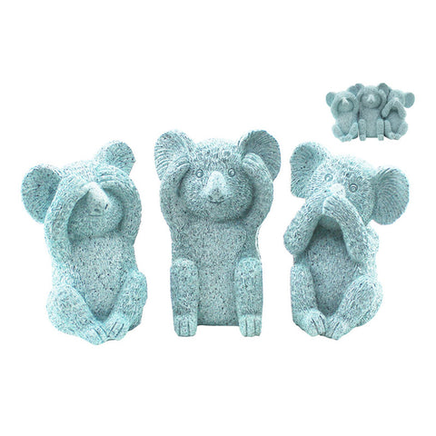 Three Wise Koalas - Marble Mint
