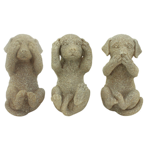 Three Wise Labradors - Taupe - The Chic Nest