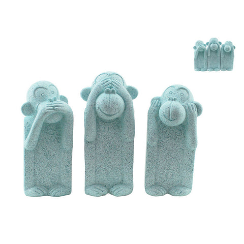 Three Wise Monkeys - Marble Mint