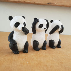Three Wise Pandas