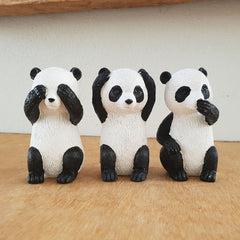 Three Wise Pandas - The Chic Nest