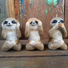 Three Wise Sloths