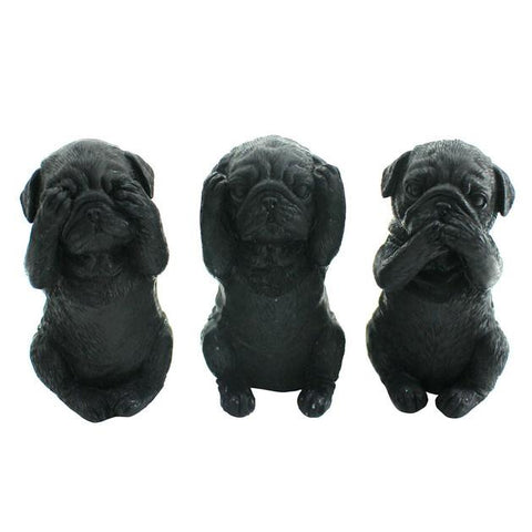 Three Wise Dogs - Black - The Chic Nest