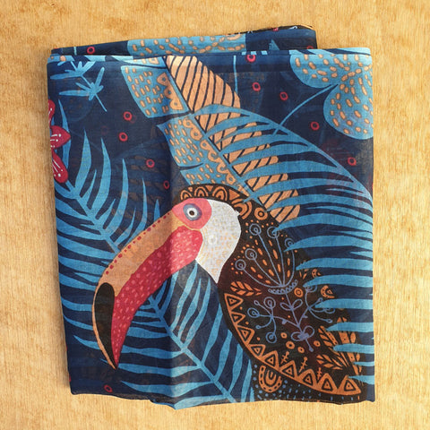 Toucan Cotton Scarf