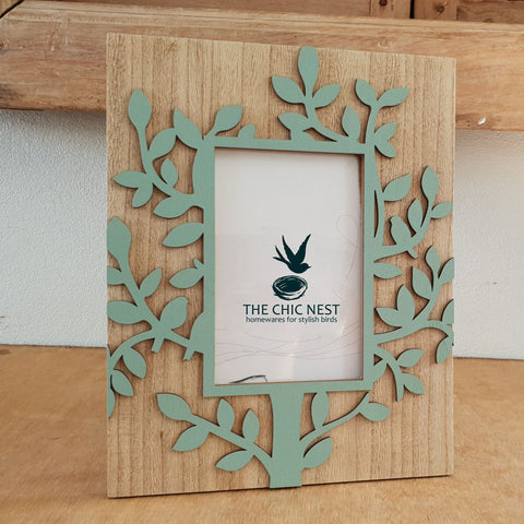 Tree of Life Photo Frame Green 4 x 6