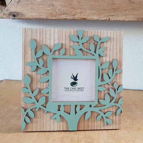 Tree of Life Photo Frame Green 4 x 4