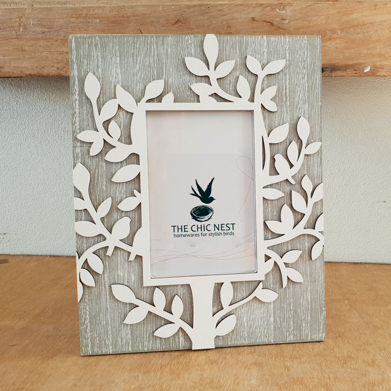 Tree Of Life Photo Frame Grey 4 X 6 The Chic Nest