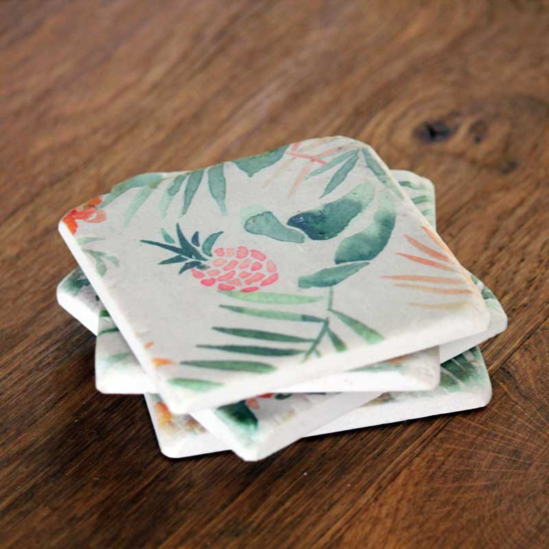 Tropical Set of 4 Coasters