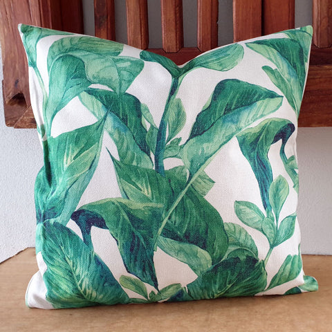 Palm Leaf Cushion - The Chic Nest