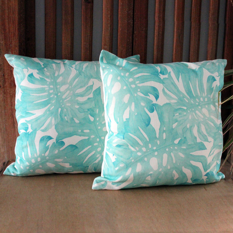 Tropical Mint Cushion - The Chic Nest