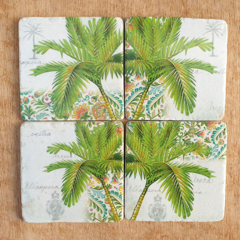 Tropical Palms Set of 4 Coasters
