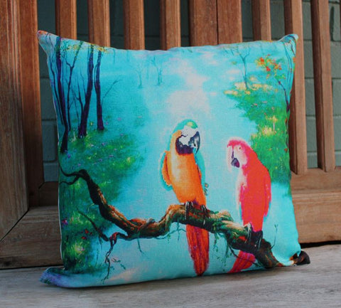 Tropical Parrot Cushion - The Chic Nest