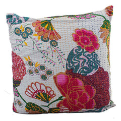 Tropical White Cushion - The Chic Nest