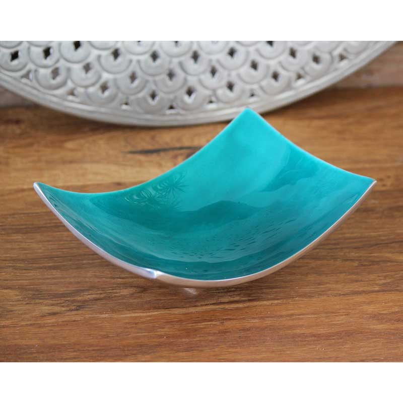 Turquoise 20cm Rectangle Dish