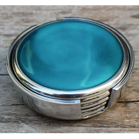 Turquoise Coasters Set of 6 - The Chic Nest