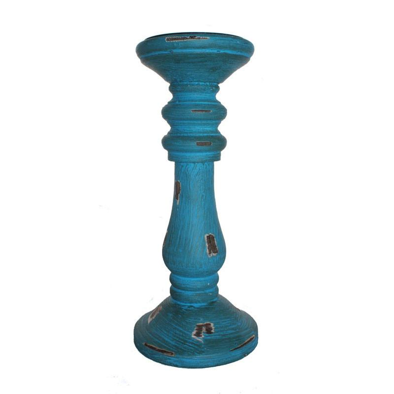 Turquoise Pillar Candle Holder