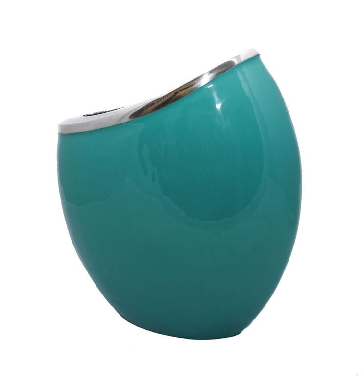 Turquoise Rounded Vase - The Chic Nest