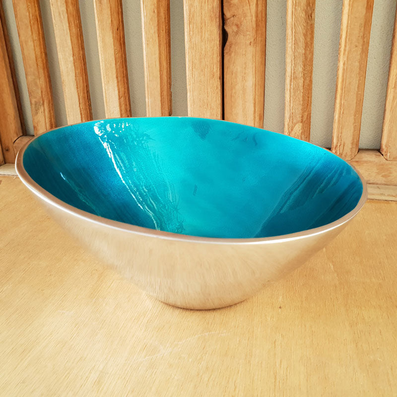 Turquoise Tapered Bowl