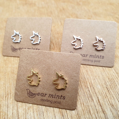 Unicorn Ear Mints Earrings - Rose Gold