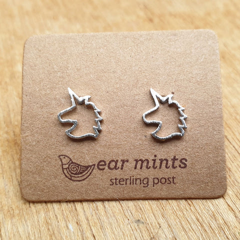 Unicorn Ear Mints Earrings - Silver