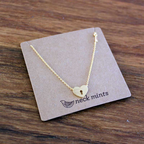Unlock My Heart Necklace Gold - Neck Mints
