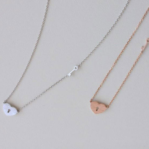 Unlock My Heart Necklace Rose Gold - Neck Mints