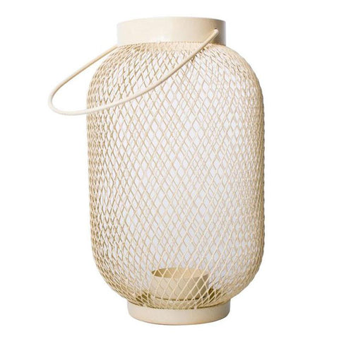 Vanilla Mesh Lantern - The Chic Nest