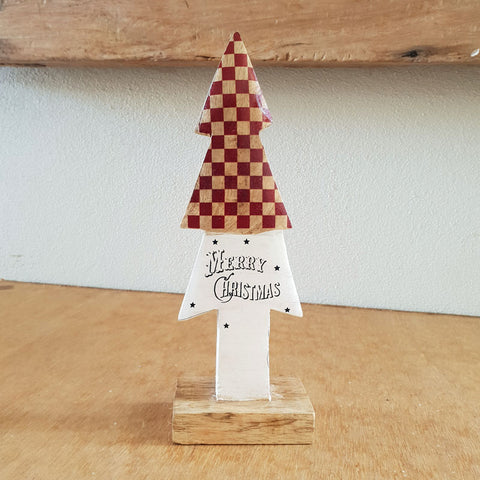 Vintage Wooden Christmas Tree - The Chic Nest