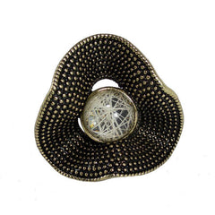 Wave Gold Stone Ring - The Chic Nest